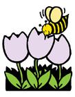 imagem abelha na tulipa