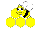 imagem abelha - parte da frente
