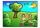 imagem Adão e Eva - felizes