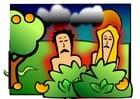 imagem Adão e Eva - tristes