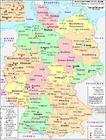 imagem Alemanha - mapa político 2007