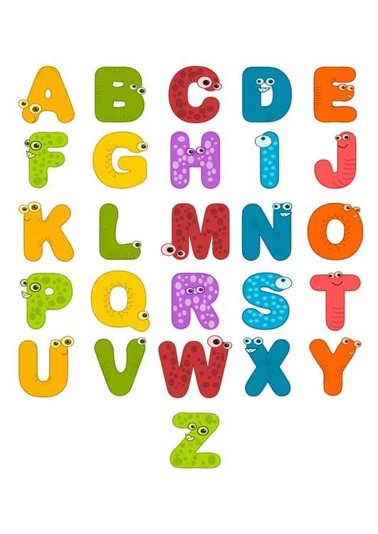 Super Imagem alfabeto de animais - img 26353 WF82