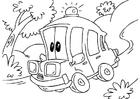 Página para colorir ambulância