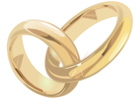 imagem anéis de casamento