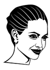 Página para colorir Angelina Jolie