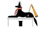 imagem Anubis em pose se chacal
