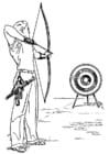 Página para colorir arco e flecha