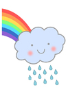 imagem arco-íris com chuva