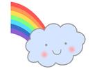 imagem arco-íris com uma nuvem