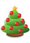 imagem árvore de Natal com bolas de Natal