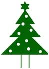 imagem árvore de Natal com estrela de Natal