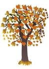 imagem árvore no outono
