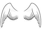 Página para colorir asas
