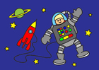 imagem astronauta