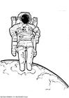 Página para colorir astronauta