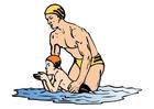 imagem aula de natação - ginástica