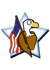 imagem bandeira americana com uma águia