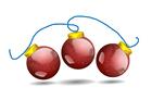 imagem bolas de Natal