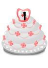 imagem bolo de casamento