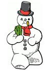 imagem boneco de neve