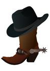 imagem bota e chapéu
