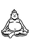 Página para colorir Buda