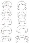 Página para colorir cabelo