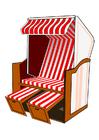 imagem cadeira de praia