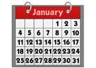 imagem calendário - janeiro