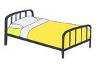 imagem cama de solteiro