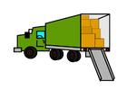 imagem caminhão de mudança cheio