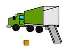imagem caminhão de mudança vazio