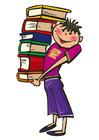 imagem carregar livros