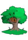 imagem casa na árvore