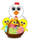 imagem cesta de Páscoa