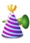 imagem chapéu de festa e corneta