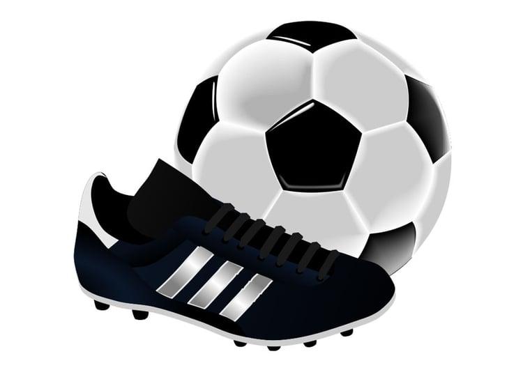 Imagem chuteira e bola de futebol - Imagens Grátis Para Imprimir