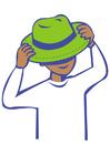 imagem colocar chapéu