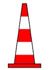 imagem cone de trânsito