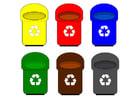 imagem contêineres de reciclagem