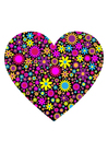 imagem coração com flores