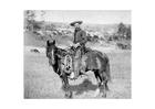 Foto cowboy em aproximadamente 1887