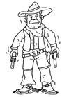 Página para colorir cowboy