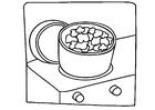 Página para colorir cozinhar - pipoca