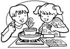 Página para colorir cozinhar