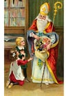 imagem crianças com São Nicolau