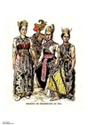 imagem dançarinas javanesas do século XIX