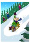 imagem diversão na neve