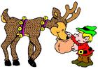 imagem elfo e rena