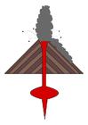 imagem erupção de vulcão